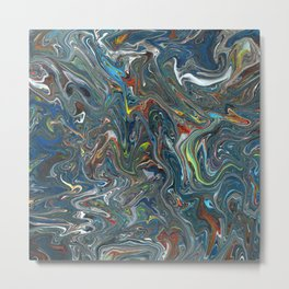Abstract Oil Painting 14 Metal Print