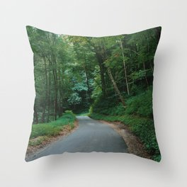 Forest route Throw Pillow