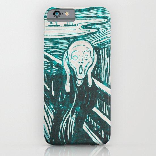 The Scream's Haze (light blue) iPhone & iPod Case
