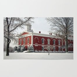 Side View of the Iron County Courthouse Rug