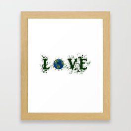 Earth Day Love Mother Earth Framed Art Print