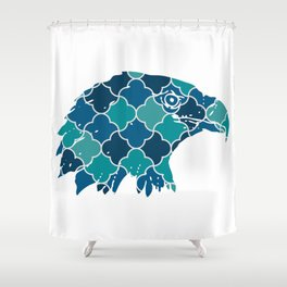 EAGLE SILHOUETTE HEAD WITH PATTERN Shower Curtain