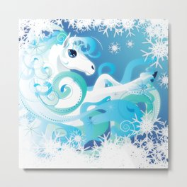Winter Horse Metal Print