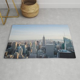 Towers | Urban Landscape Photography of New York City Skyline Buildings Rug