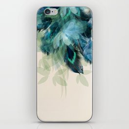 Beautiful Peacock Feathers iPhone Skin