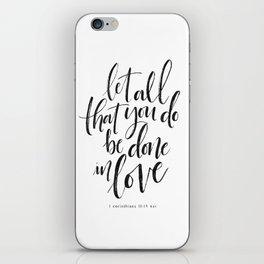 Done in Love iPhone Skin