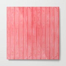 Bright Coral wood Metal Print