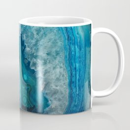 Blue agate marble faux druse crystal quartz gem gemstone geode mineral stone photograph hipster Coffee Mug