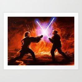 Brothers fight Art Print