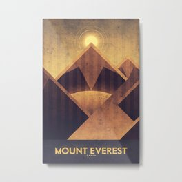 Earth - Mount Everest Metal Print