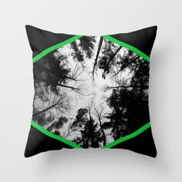 Grey forest Throw Pillow