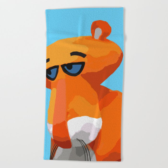 Happy Panther Beach Towel