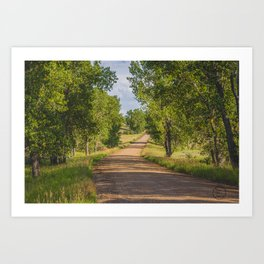 Summer Country Road, Fort Clark, North Dakota 2 Art Print