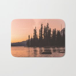 Forest Island at the Lake - Nature Photography Bath Mat