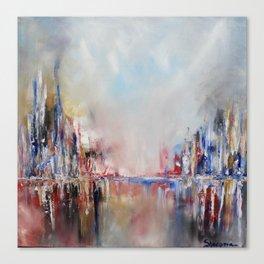 Spring urban landscape (OIL ON CANVAS) Canvas Print