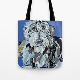 Irish Wolfhound Dog Portrait Tote Bag