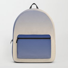 Antique White and Christmas Blue Gradient Colors Backpack