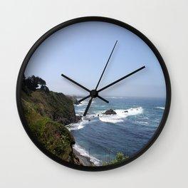Crashing Waves On California Coastline Wall Clock