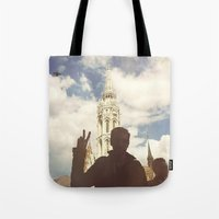 budapest Tote Bags featuring Budapest by BriAnneWills