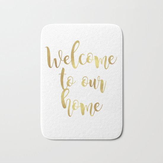 Welcome to our home Bath Mat