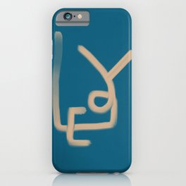 L.O.V.E. blue iPhone Case