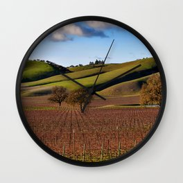 Templeton Vineyard Wall Clock