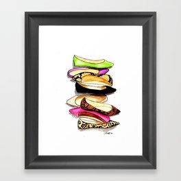 Fashion Flats Framed Art Print