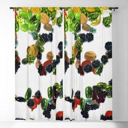 set of painting fruit Blackout Curtain