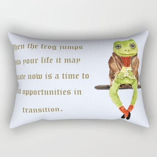 Mr. Frog Rectangular Pillow