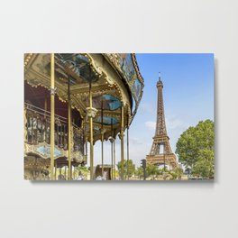 Typical Paris Metal Print