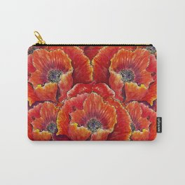 Big red poppies Carry-All Pouch