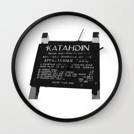To Katahdin Wall Clock