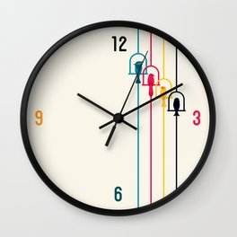 Chime in CMYK Wall Clock