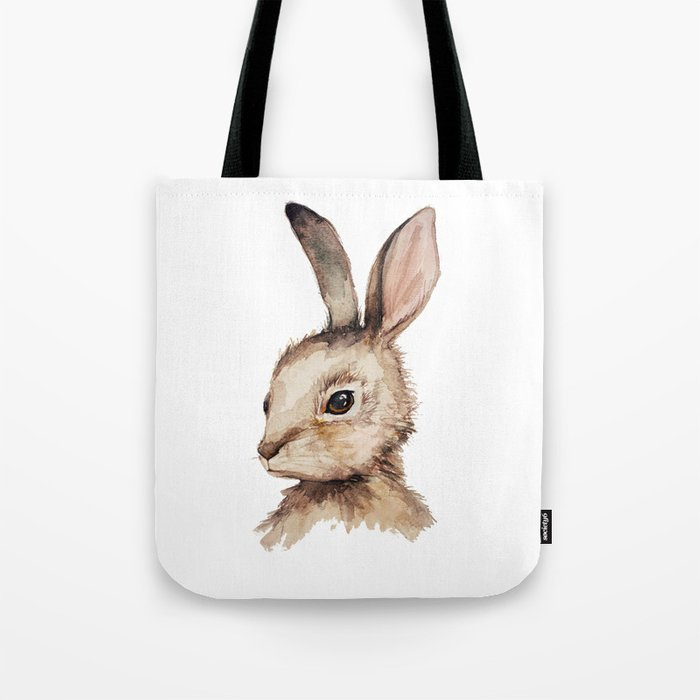 Pensive Easter Bunny  Tote Bag