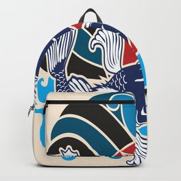 Japanese Tattoo Vector Backpack