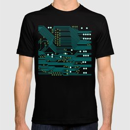Dark Circuit Board T-shirt