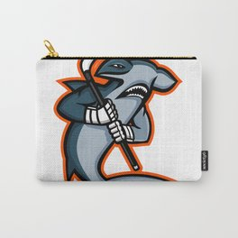 Hammerhead Ice Hockey Player Mascot Carry-All Pouch
