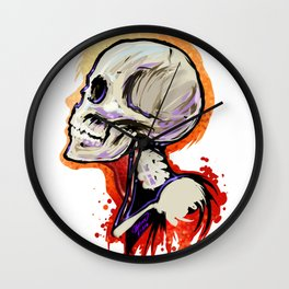 Bone Head Wall Clock