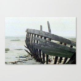 Wreck on the beach. Canvas Print