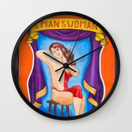 1/2 Man 1/2 Woman Wall Clock