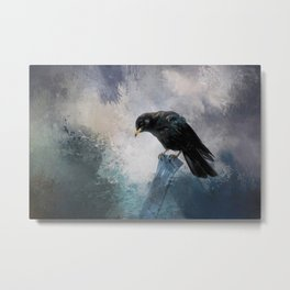 Black Crow Metal Print