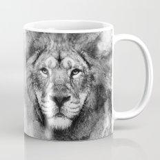 Lion Black and White Mug