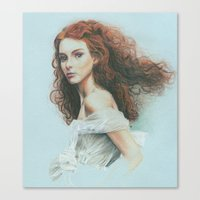 ginger Canvas Prints featuring Ginger by Hande Unver