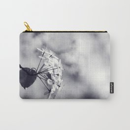 Blossoms in Black and White Carry-All Pouch