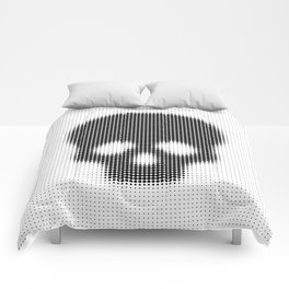 Halftone Skull Comforters