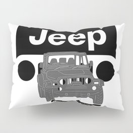 Jeep On the road Pillow Sham