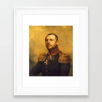 replaceface Framed Art Prints featuring Simon Pegg - replaceface by replaceface