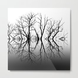 Silhouetted Beauty Black Metal Print