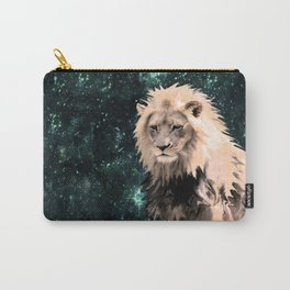 Lion King of the Emerald Panthera Galaxy Carry-All Pouch