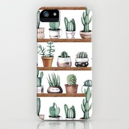 Cactus Shelf Rose Gold Green iPhone Case